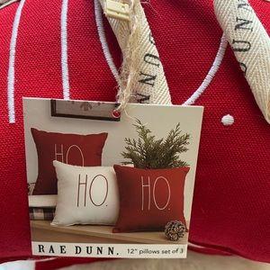 Rae Dunn Ho Ho Ho Pillows
